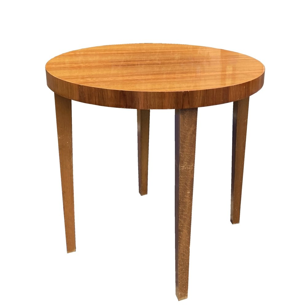 Mid Century Modern Coffee Table With A Round Top Germany 1960s 145170