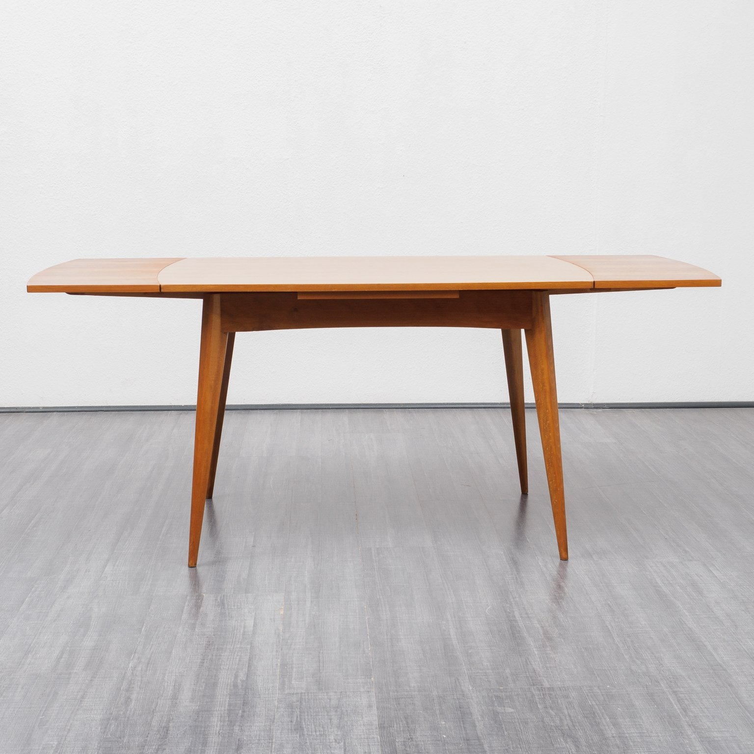 Midcentury Extendable Dining Table In Teak 1960s 145801