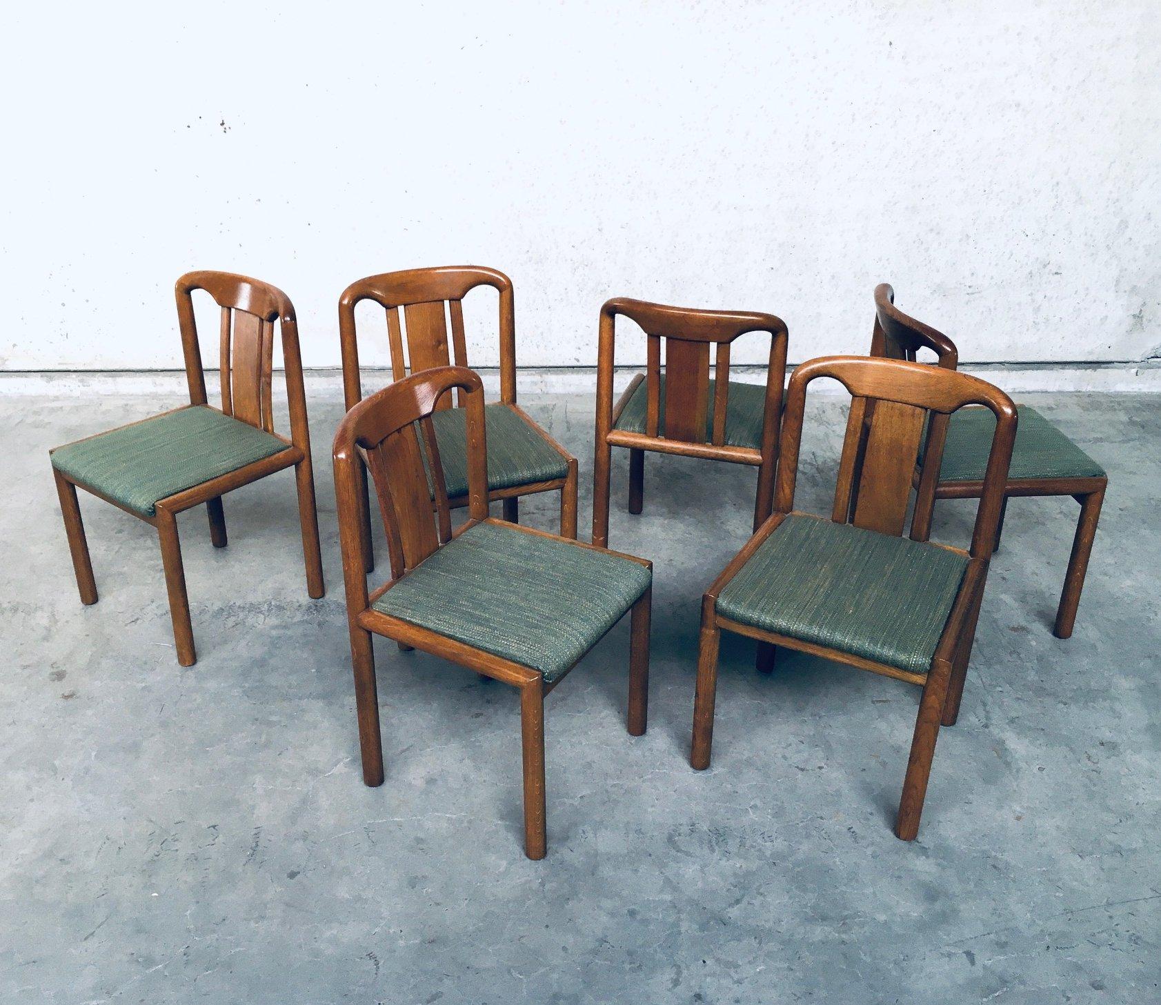 1970 S German Design Set Of 6 Dining Chairs In Oak 152020