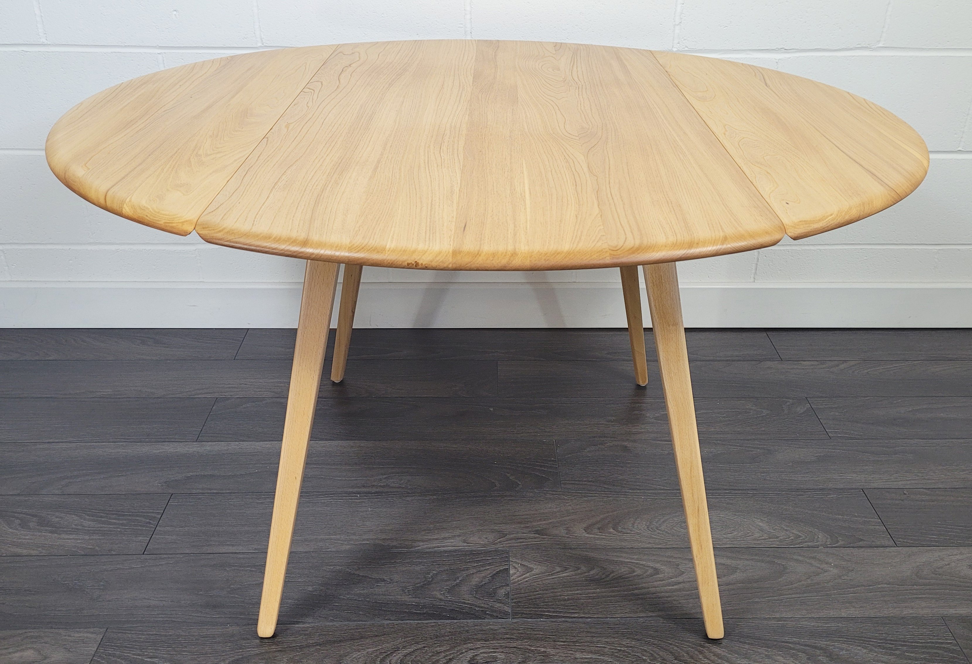Ercol Round Drop Leaf Dining Table, 9s   9