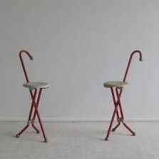 Pair of Ulisse stools by Ivan Loss for Sandrigarden, 1980s