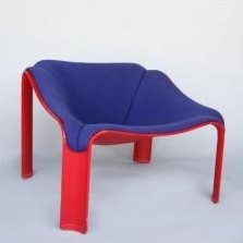 F300 Lounge Chair by Pierre Paulin for Artifort