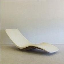 Lounge Chair by Charles Zublena for Plastiques de Bourgogne