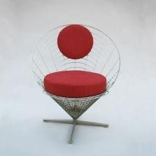 Wire Cone lounge chair from the sixties by Verner Panton for Plus Linje