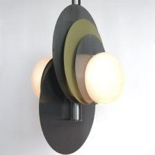 Metal ceiling light with glass spheres, 1960s
