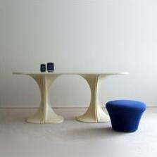 Dining table by Pierre Paulin for BORO Belgium, 1970s