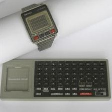 The world's first LCD computer watch with database, made by Seiko in 1984