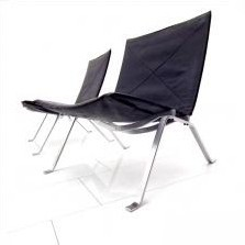 PK 22 Lounge Chair by Poul Kjærholm for E. Kold Christensen