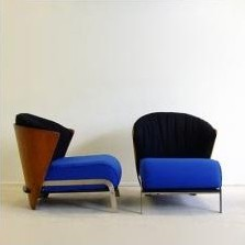 2 x Elba lounge chair by Franco Raggi for Cappellini, 1980s
