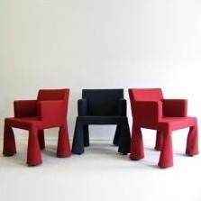 Set of 3 VIP lounge chairs by Marcel Wanders for Moooi, 1990s