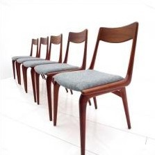 Boomerang Dinner Chair by Erik Christensen for Slagelse Møbelværk