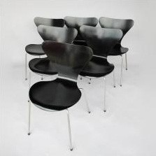 Set of 10 3017 Butterfly dining chairs by Arne Jacobsen for Fritz Hansen