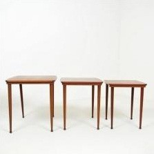 No 22 Nesting Table by Unknown Designer for Bramin