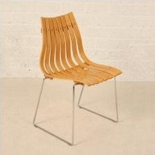 Set of 4 Scandia Jr dining chairs by Hans Brattrud for Hove Möbler, 1950s