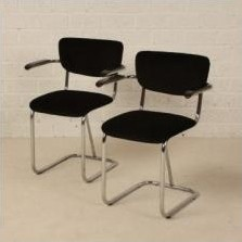 10 x Fana 112 dining chair by Fana Metal, 1930s