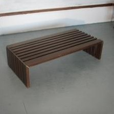 Bench from the sixties by Walter Antonis for Spectrum