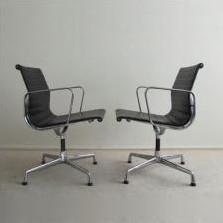 Pair of EA 108 office chairs by Charles & Ray Eames for Vitra, 1990s