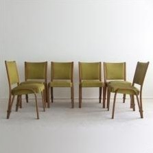 Set of 6 dinner chairs by Hugues Steiner for Steiner Meubles, 1960s