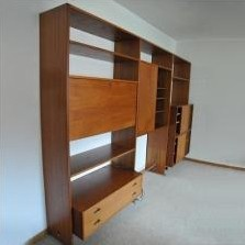 RY-100 wall unit by Hans Wegner for Ry Møbler, 1960s