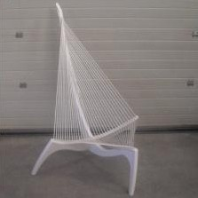 The Harp lounge chair by Jørgen Høvelskov for Christensen & Larsen, 1990s