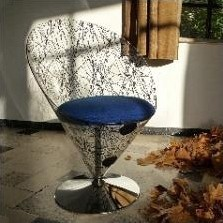 VP 01C lounge chair from the nineties by Verner Panton for Polythema