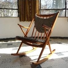 Model 182 Rocking Chair by Frank Reenskaug for Bramin