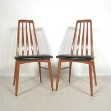 Set of 6 EVA dining chairs by Niels Kofoed for Koefoeds Hornslet, 1950s