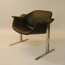Pair of dinner chairs by JB Meijer for Kembo, 1960s