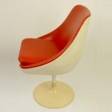 Dining chair by Joe Colombo for Lusch Erzeugnis, 1960s