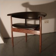 Meander Series office chair from the fifties by Rudolf Wolf for unknown producer