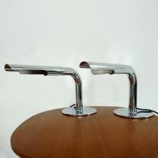 2 Gulp desk lamps from the sixties by Ingo Maurer for Design M