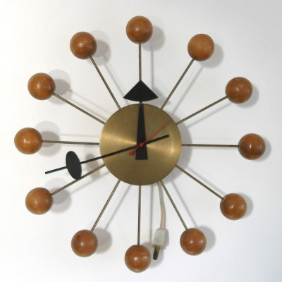 4755 Ball clock by George Nelson for Howard Miller, 1940s