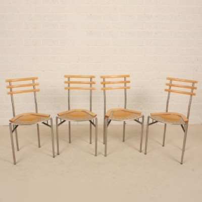 Set of 4 Eckstein Z16 dining chairs by Zumsteg Collection, 1980s