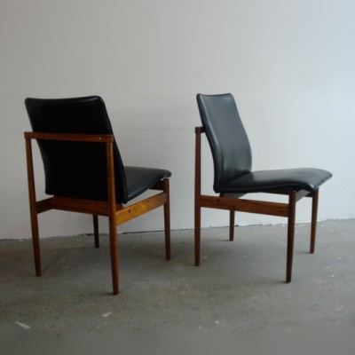 Pair of Thereca dining chairs, 1960s