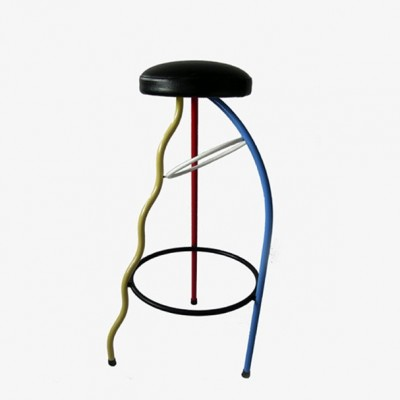 3 Duplex stools from the eighties by Javier Mariscal for unknown producer
