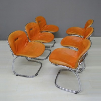 Set of 6 Sabrina dining chairs by Gastone Rinaldi for Rima, 1970s