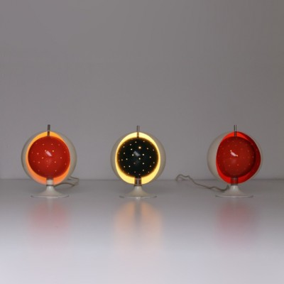 3 Globe Eclisse desk lamps from the sixties by J. Hoogervorst for Anvia Almelo
