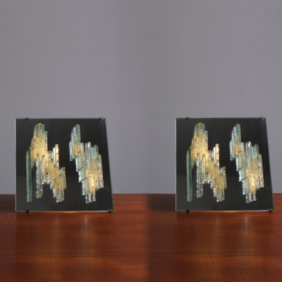 Pair of Breukreliëf C-1517 wall lamps by Raak Amsterdam, 1960s