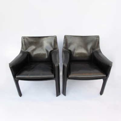 Set of 5 CAB 412 lounge chairs from the seventies by Mario Bellini for Cassina