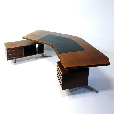 Boomerang T96 Writing Desk by Osvaldo Borsani for Tecno