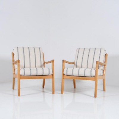 Pair of Senator lounge chairs by Ole Wanscher for Jeppesen Denmark, 1960s
