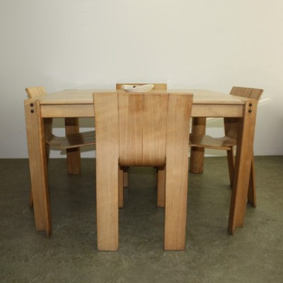 Set of 5 Strip dining sets by Gijs Bakker for Castelijn, 1970s