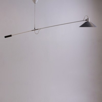 Counter Balance ceiling lamp from the fifties by J. Hoogervorst for Anvia Almelo