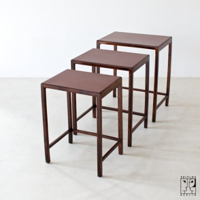 Nesting Table by Jindrich Halabala for UP Závody