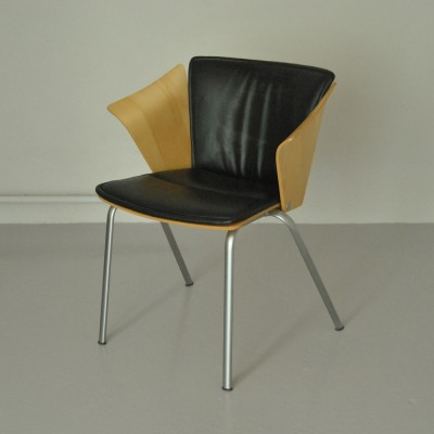 6 Vico VM3 dinner chairs from the nineties by Vico Magistretti for Fritz Hansen