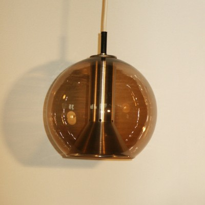 6 B-1040 hanging lamps from the seventies by Frank Ligtelijn for Raak Amsterdam