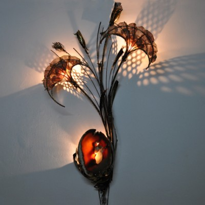 Illuminated Wall Sculpture by Marc D Haenens for Unknown Manufacturer