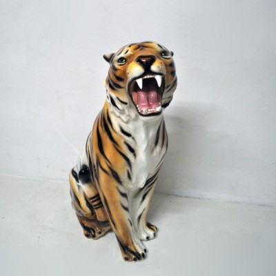 Large Ceramic Tiger by Unknown Designer for Unknown Manufacturer