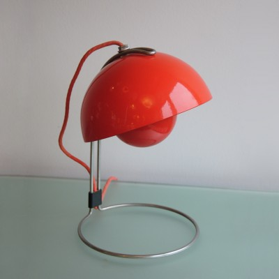 Flower Pot desk lamp from the sixties by Verner Panton for Louis Poulsen