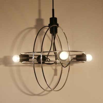 Cirkels Mobile B-1021 hanging lamp by Walter Leeman for Raak Amsterdam, 1960s
